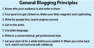 General Blogging Principles